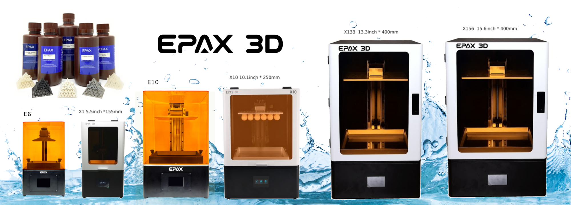 Epax3D Epax resin 3D-printer line-up compatible with liqcreate engineering resins